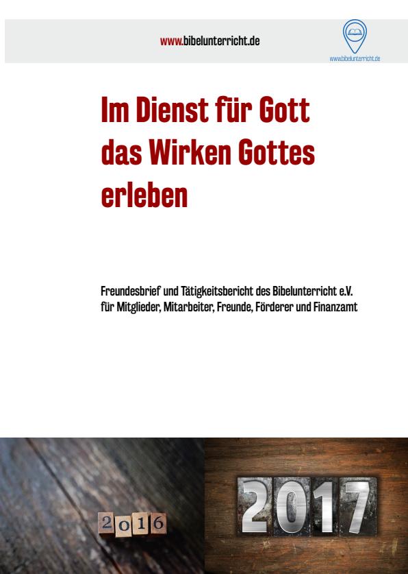 Cover des Tätigkeitsberichtes