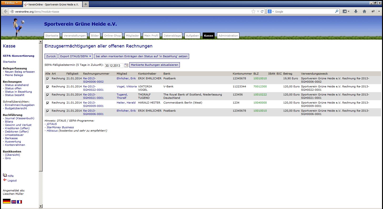 SEPA Lastschriften/Überweisungen | HDGV e.V.