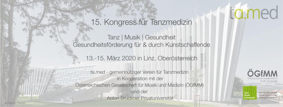 15. Kongress für Tanzmedizin