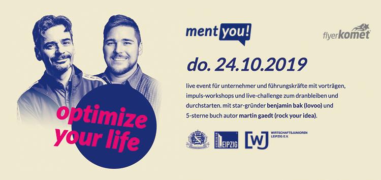 5 jahre ment-you! am 24.10.2019 ab 17:30 uhr im kulturhafen am riverboat