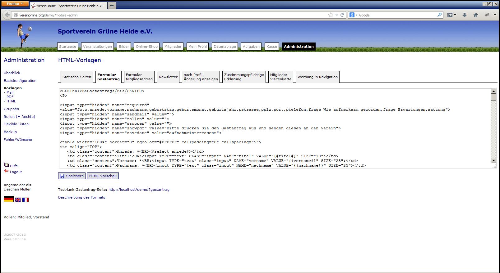 HTML-Vorlagen (2) |