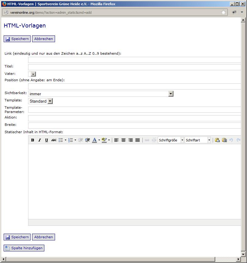 HTML-Vorlagen (1) - Statische Seiten |
