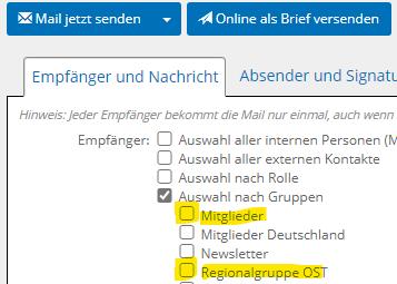 E-Mail-Gruppen